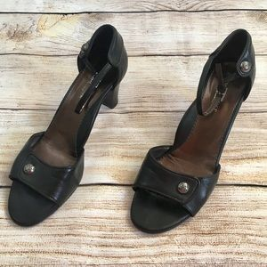Taryn Rose Black Leather Sandals Sz US 8.5